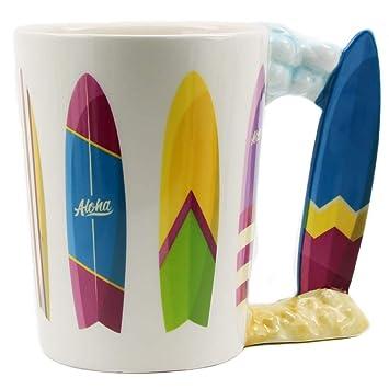1Piezas Tablas de surf Cheeky Fun Mug Surfing for Life Manija de tabla de surf Copa