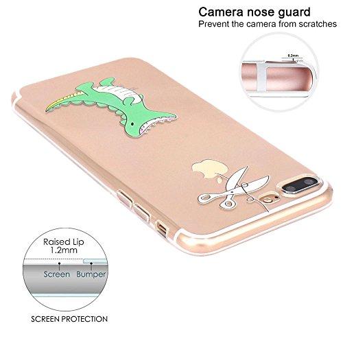 iPhone 7 plus Hülle, JIAXIUFEN Neue Modelle TPU Silikon Schutz Handy Hülle Case Tasche Etui Bumper für Apple iPhone 7 plus(2016) - Hungry Crocodile