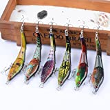 Juemenzhe 6PCS Deep Saltwater Fishing Lures Squid Laser Salwater 3D Minnow Fishing Lures Salt Swimbait Wobbler