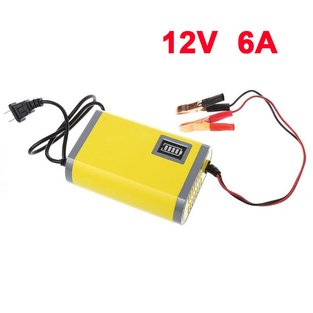 Beautyrain Motorcycle Rechargeable Battery Motorcycle Battery Charger Portable 12V 6A 80cm/Power Cord Power Jump Starters