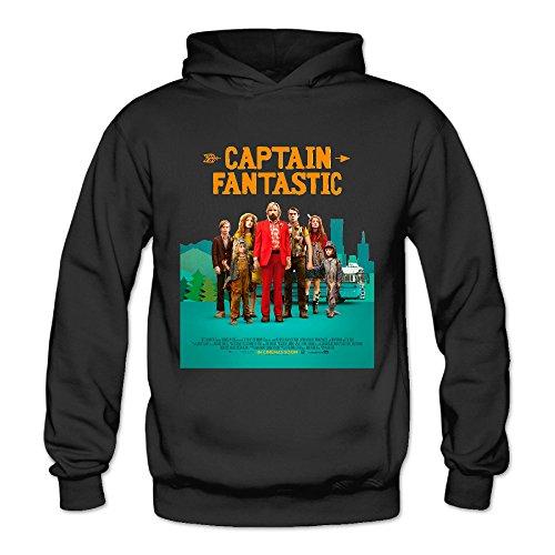 Captain Fantastic 2016 Women's Long Sleeve Long Sleeves Black US Size M