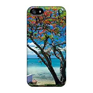 New Fashion Premium Cases Covers For Iphone 5/5s - Blooming Tree On A Caribbean Beach