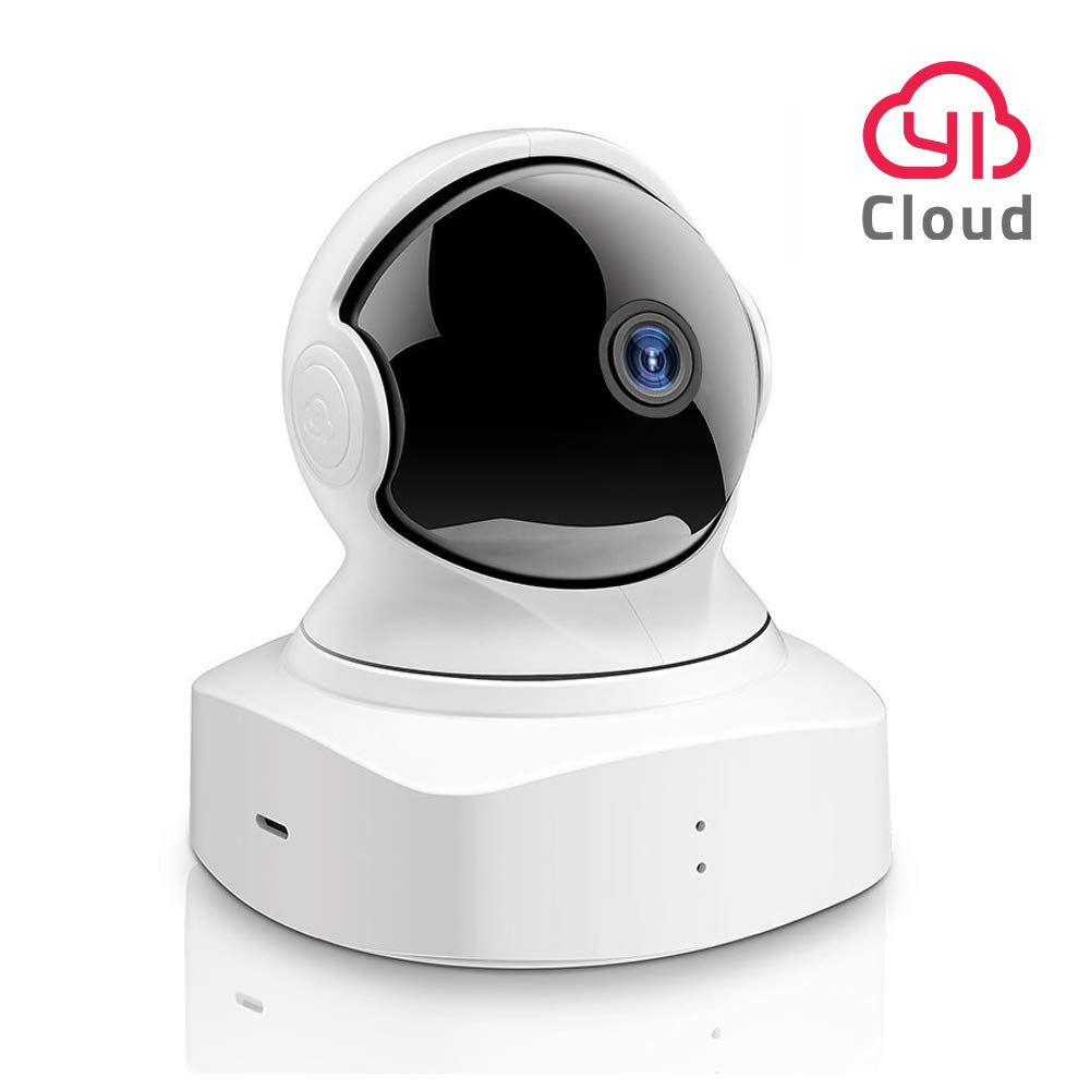 YI Cloud Dome Camera 1080P HD, Wireless IP Security Camera Pan/Tilt/Zoom  Indoor Surveillance System with Night Vision, Motion Detection and Baby