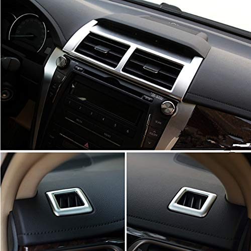 Fastener & Clip for Toyota Camry 2012 2013 2014 2015 2016 2017 Matte Side Air Conditioning AC Outlet Vent Car Accessories Cover Trims 3Pcs/Set