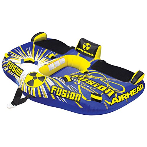 Airhead Fusion Kwik Tek 71''X87'' Cockpit Tube/Deck Tube-Style Towable Blue/Yellow/Black/White AHFN-12