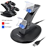 Insten Standing Dual USB Controller Charging Station Dock for PS4 / PS4 Pro / PS4 Slim/ Playstation 4 Controller