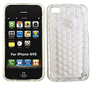 CellTx Design Case For Apple (iPhone 4, 4S, 4G) Skin Rubber Case Soft Cover (Transparent, Clear) AT&T, T-Mobile, Sprint, Verizon, Cricket, Virgin Mobile, Boost Mobile by mcsharks