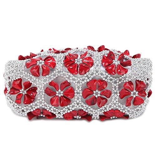 KAXIDY Damentasche Handtasche Schultertasche Tragetasche Hochzeits-Blumen-Tasche