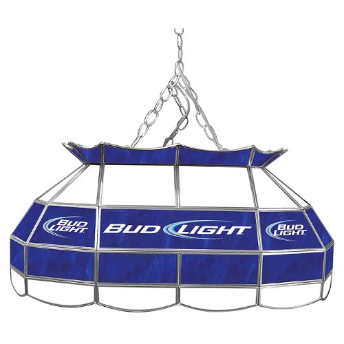 Trademark Bud Light 28 inch Stained Glass Pool Table Light by Trademark Global
