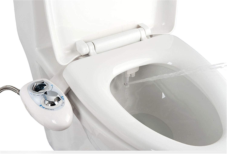 IBAMA Bidés, Toilet Seat Bidet Bidé de asiento de inodoro con boquilla doble, boquilla autolimpiante, accesorio WC bidet mecánico no eléctrico de agua dulce