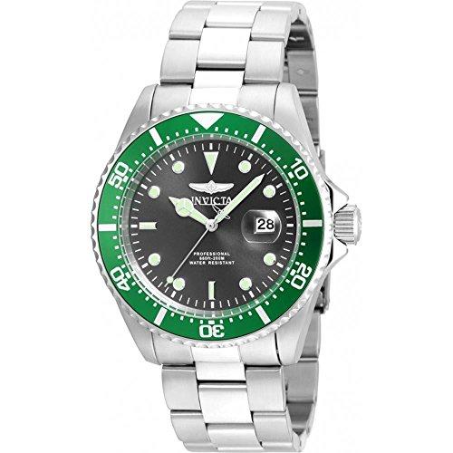 Invicta Men's 'Pro Diver' Quartz Stainless Steel Watch, Color:Silver-Toned (Model: (Invicta Mens Silver Dial)