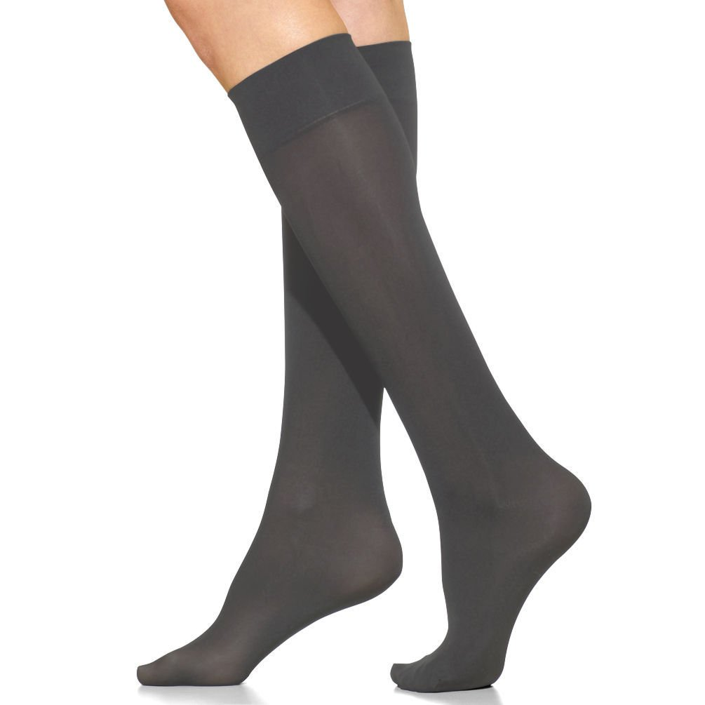 Berkshire 6424 Plus Size Opaque Trouser Socks- 6 Pairs Black 10-13 [6 PAIRS]