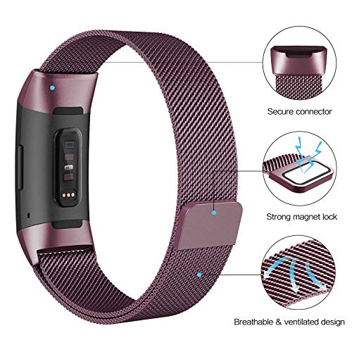 SWEES Metal Bands Compatible Fitbit Charge 3 and Charge 3 SE