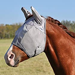 Cashel Crusader Horse Fly Mask with Ears - Size: Draft