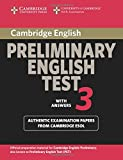 Cambridge Preliminary English Test 3 Student's Book with Answers: Examination Papers from the University of Cambridge ESOL Examinations