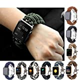 For iWatch Apple Watch 42mm,GBSELL Nylon Rope Survival Bracelet Watch Band Casual Sport (D)