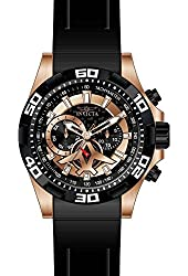 Invicta Men's Aviator Black Polyurethane Band Steel Case Quartz Analog Watch 21740