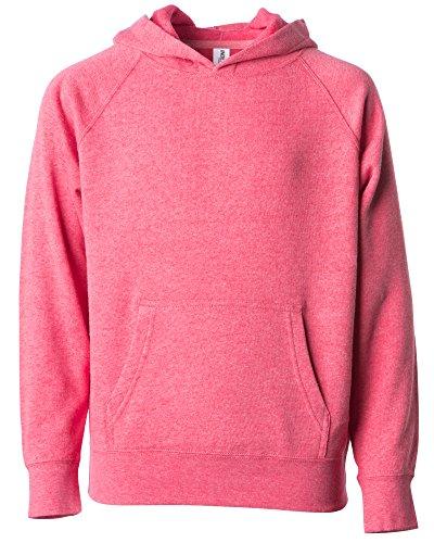 Global Blank Girls and Boys Pullover Hoodie Kids Sweatshirt Pockets Light Red 2T