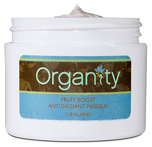 Organity Natural and Organic Fruit Boost Facial Masque and Exfoliating Scrub – 2 Ounce/ 60 ml Jar