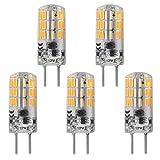 4 watt type g bulb - GY6.35 G6.35 Bi-pin Base LED Bulb 4Watt AC DC 12V Silica Gel Crystal Warm White 2700k-3000K Landscape Lighting,JC Type, Equivalent 25W- 30W Q35/CL/T4 Halogen Bulbs (5-Pack)