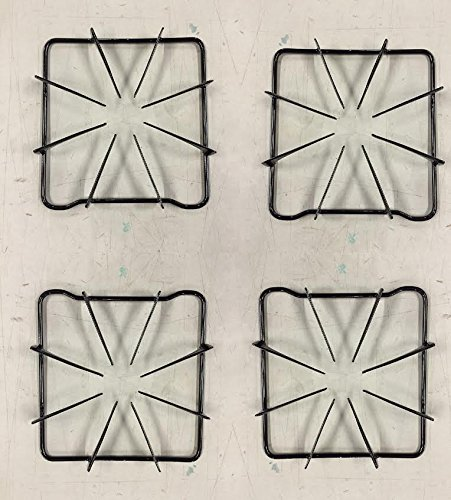 (Edgewater Parts 74001086 Set of 4 Burner Grates Compatible With Whirlpool, Maytag, Magic Chef,)