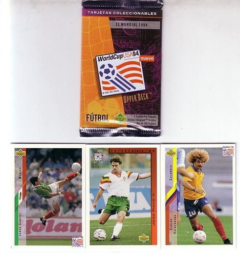 Upper Deck 1994 World Cup Contenders Spanish Soccer Card Box. CARDS ARE ENTIRELY IN SPANISH (Not English/Spanish).