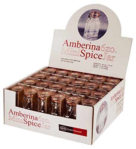 Grant Howard 6 Ounce Amberina Grande Spice Jar, Set of 24