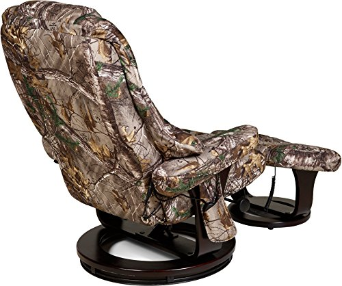 Relaxzen 60-0790CF 8 Motor Massage Recliner with Heat and Ottoman, Realtree Camouflage