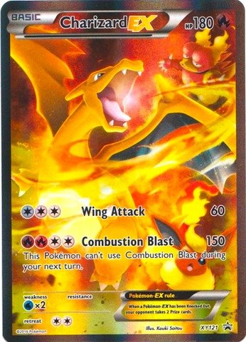 Pokemon - Charizard-EX (XY121) - XY Black Star Promos - Holo (Charizard Ex)