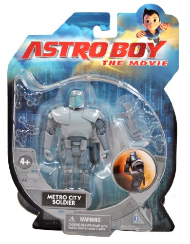 Astro Boy The Movie Series 4 Inch Tall Action Figure - METRO CITY SOLDIER with Rifle ()
