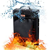 Fireproof Document Bag, JOZZ Waterproof Bag Safe Storage Bag Fire Resistant Envelope Pouch for Money and Valuables