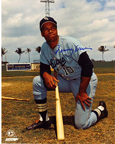 Autographed Signed 8x10 Photo Tommy Davis #1 Chicago White Sox - Certified - 1 White Photo Sox Chicago