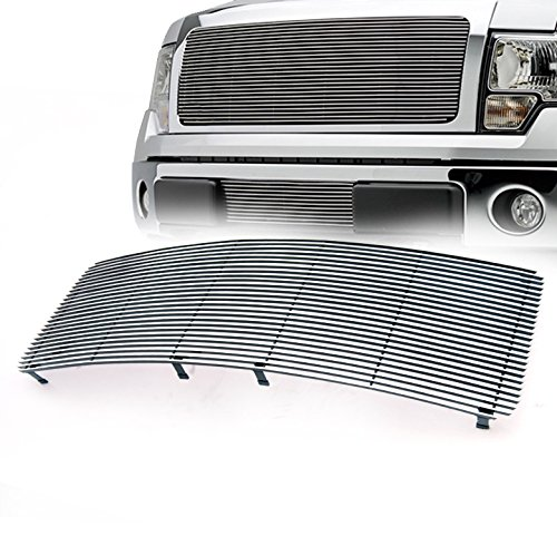 ZMAUTOPARTS Ford F150 F150 Pickup Front Upper Billet Grille Grill Insert1Pc (Grille Pickup Upper Billet)