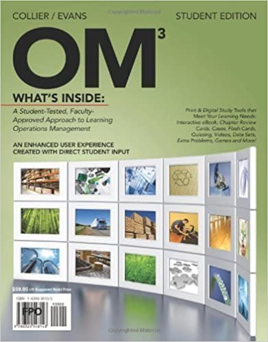 OM (with Review Cards and Decision Sciences & Operations Management CourseMate with eBook Printed Access Card) 3rd (third) Edition by Collier, David Alan, Evans, James R. published by Cengage Learning (2011)