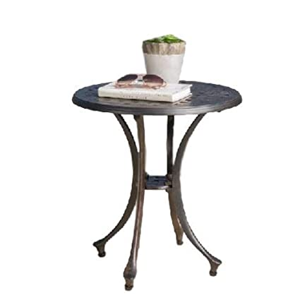 Amazon.com : GT Mini Side Table Rustic Round Metal Tables ...