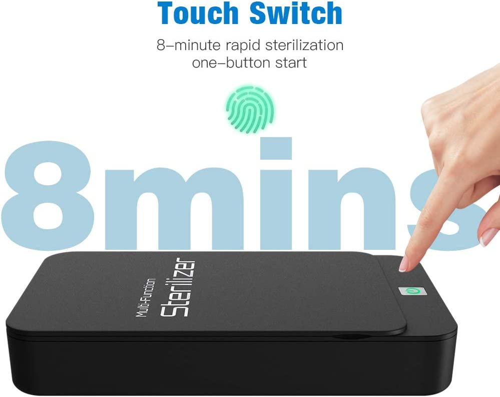 Makeup Tools,Rings,Keys Watches,Toys Smartphone Sanitizer Device Box for iPhone Android Phones Cell Phone Sanitizer Box,Portable Phone Sanitizer Cleaner Box with Aromatherapy Function Jewelry