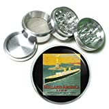63mm 2.5'' 4Pc Aluminum Sifter Magnetic Grinder D-075 Holland America Line Rotterdam New York Via Boulogne