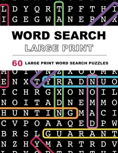 Word Search Puzzles Large Print: Large print word search, Word search books, Word search books for adults, Adult word search books, Word search puzzle books, Extra large print word search (Printable Word Searches For Adults Large Print)