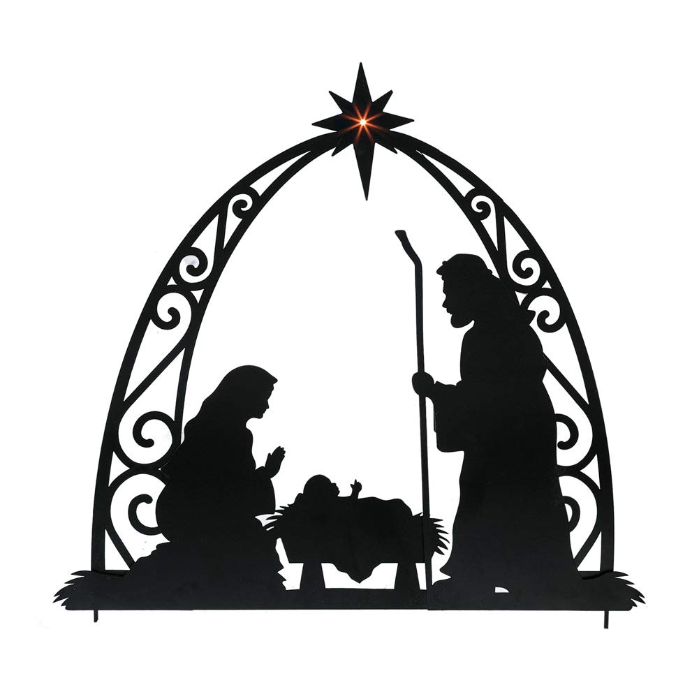 Collections Etc Nativity Silhouette Stakes Nativity