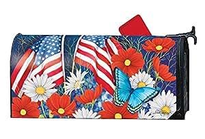 Magnet Works - Papel de regalo, color rojo, blanco y azul