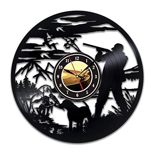 Duck Hunting Bird Hunting Vinyl Record Wall Clock Art Home Decor Gift Idea Men Vintage Clocks Accessories