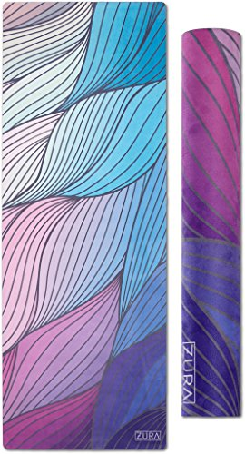 The Eco-friendly Combo Yoga Mat + Towel, No-slip Grip with Microfiber Towel Top – Extra Long – 3.5 mm Thick – 100% Natural and Non-toxic, Machine Washable – Ideal for Yoga, Hot Yoga, Pilates & Fitness Review