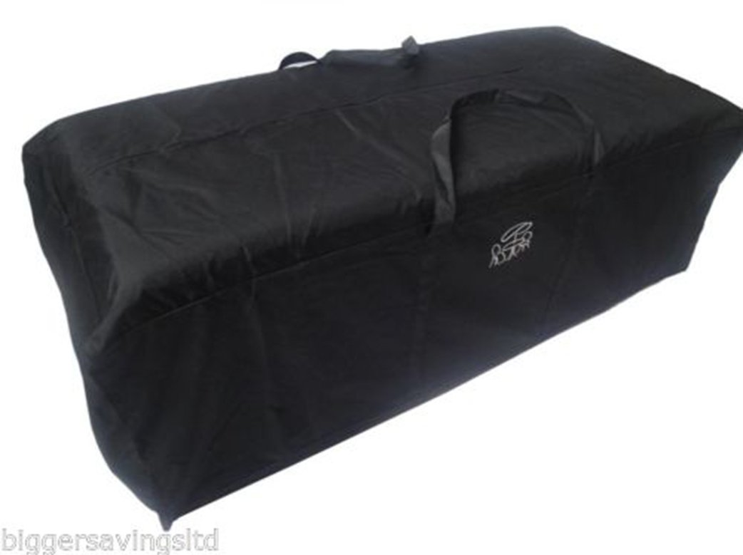 Glencrest Garden Cushion Storage Bag, Black   Large Holdall