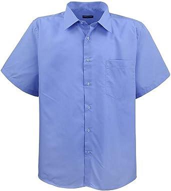 Lavecchia ¡ Más Grande Elegante Camisa de Manga Corta para Hombre HKA19-02 Azul Azul XXXXXXXL: Amazon.es: Ropa y accesorios