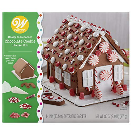 Wilton Ready-to-Decorate Chocolate Cookie House Decorating Kit
