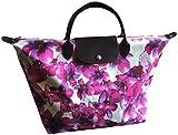 Longchamp Le Pliage Large 12 Medium Travel Handbag Deep Purple