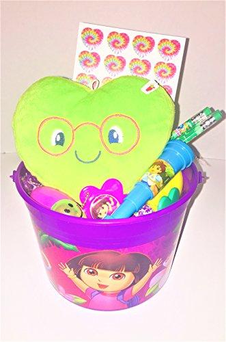 Fun Easter Basket Kids Happy Girls Boys Children Candy Plastic Eggs Dora Smiley Face ()