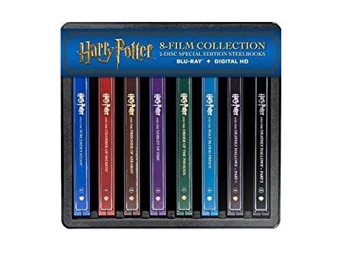 Harry Potter: Complete 8 Film Steelbook Limited Edition Collection (Blu Ray + Digital HD)