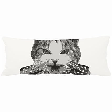 9e386ae6e0b ArtsLifes Family Decorative Body Pillows Hissfit Rebel Misfit Kitty Cat  Photo Unique Design Home Decor Pillow