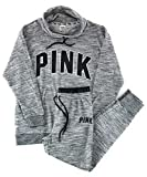 Victoria's Secret Pink Cowl Neck Pullover and Jogger Set Medium Gray